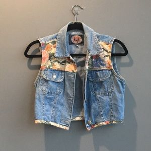 Paris Blues Vintage floral jean vest